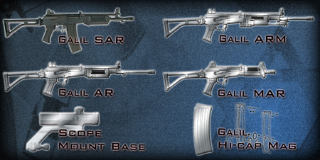Other designs for King Arms Galil and Accessories